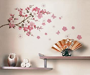 Wall Decor Removable Decal Sticker   Cherry Blossoms Tree Branch Part 97