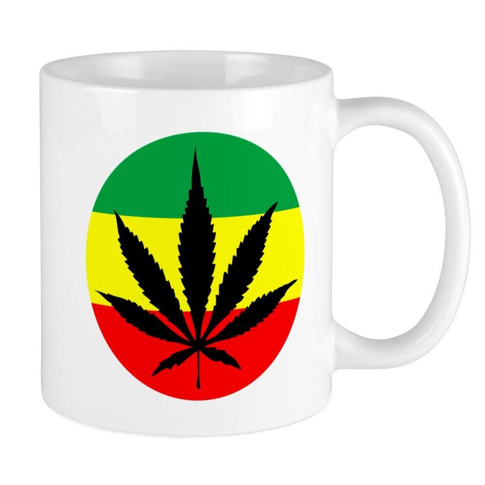 /Unique Mug /à caf/é /Rasta marijuana/ CafePress/ tasse /à caf/é Small White//Black Inside