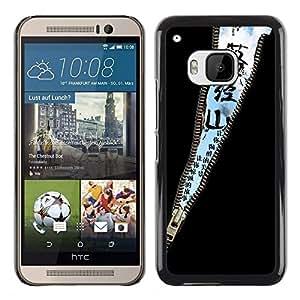 iKiki Tech / Estuche rígido - Design Zipper Sky Message - HTC One M9
