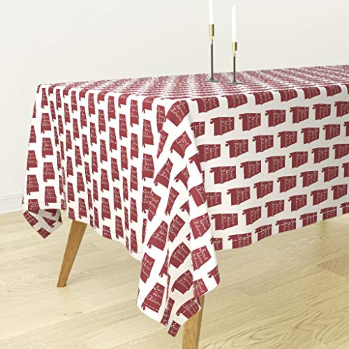 Sweet Home Alabama Tablecloth - Alabama State Red Song Sweet Sweet Home Alabama Alabama America Southern by Thinlinetextiles - Cotton Sateen Tablecloth 70 x 144