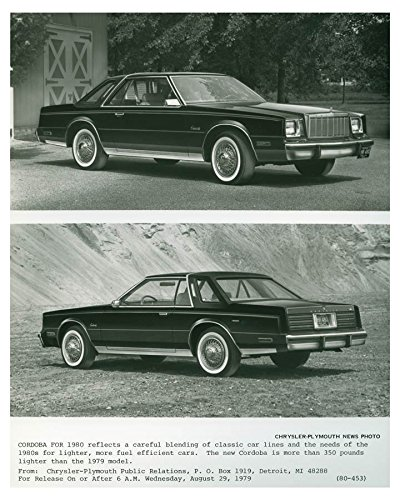 Amazon.com: 1980 Chrysler Plymouth Cordoba Automobile ...