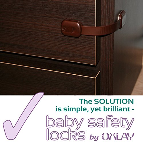 Baby Proofing Adjustable Safety Cabinet Locks By Oxlay