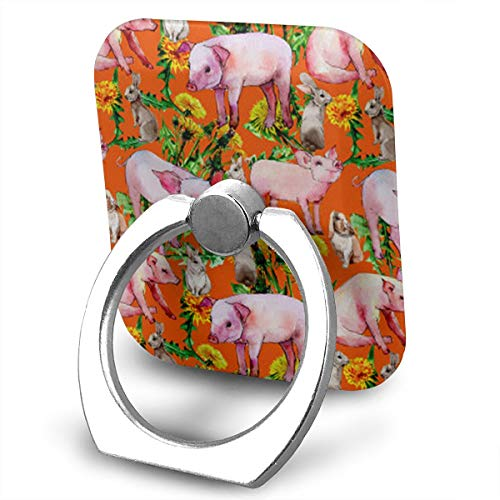 BLDBZQ Cell Phone Ring Holder Pig Wild Animal Pattern Finger Grip Stand Holder 360 Degrees Rotation Compatible with iPhone Samsung Phone Case ()