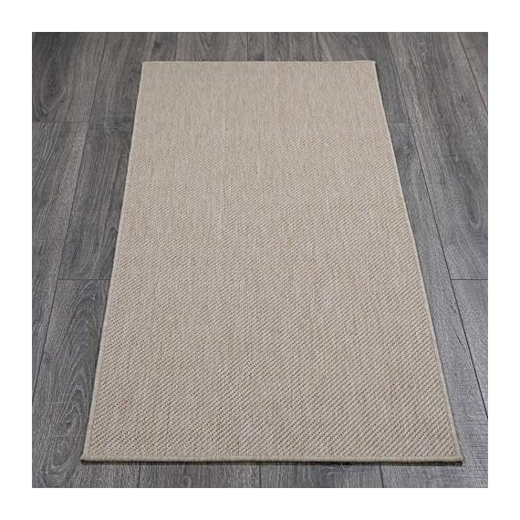 Ottomanson Jardin Collection Solid Design Runner Rug, 2' x 5', Cream - VERSATILE: Robust construction makes it ideal for high-traffic areas indoor or outdoor. DURABLE and LONG LASTING: Power-loomed in Turkey with %100 polypropylene. LOW-PILE HEIGHT is non-shedding and ideal for homes with pets and high-traffic. - runner-rugs, entryway-furniture-decor, entryway-laundry-room - 51O27xq9F L. SS570  -