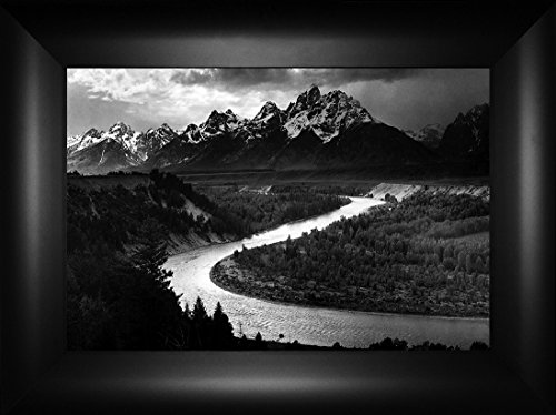 Snake River Sunrise By Ansel Adams 18x24 Snake River Grand Teton National Park Jackson Hole Yellowstone Western Wyoming West Montana Cody Casper Red Lodge Framed Art Print Wall Décor Picture (Canvas Ansel Adams)