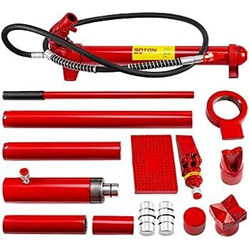 Skroutz 20 Ton Hydraulic Jack Air Pump Lift Porta Power Ram Repair Tool Kit Set W//Case
