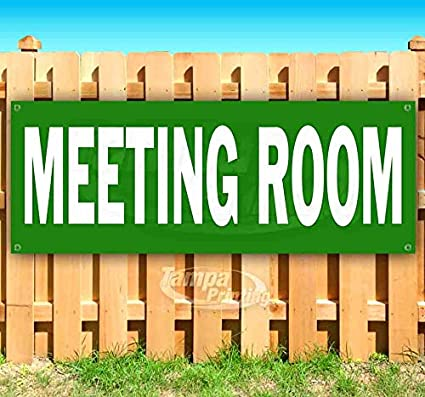 Meeting Room 13 oz Heavy Duty Vinyl Banner Sign with Metal Grommets Advertising Many Sizes Available New Store Flag,