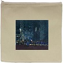 Blue Devils Fifth Avenue (George Luks) Canvas Zipper Tote Bag Makeup Bag