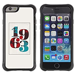 iArmor / Hybrid Anti-Shock Defend Case / 195s3 Born Poster Vintage Year Number / Apple iPhone 5s
