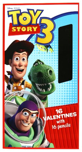 Paper Magic Toy Story 3 Valentines, Trading Cards and Pencils (16 of - Valentine Story Toy Cards