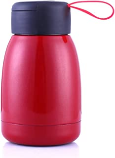 GRSB Bottiglia Termica,Thermos 300Ml Thermos Bottiglia La Mia Tazza di Acqua Termica Tazza Tazza di Vuoto con Corda Portatile 304 Acciaio Inossidabile Thermo Mug per I Bambini