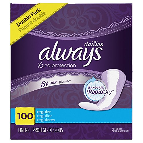 Always Regular Dri-Liners, Unscented - 100 ct