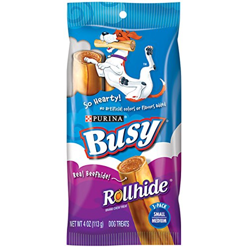 Purina Busy Rollhide Small/Medium Dog Treats - (12) 3 Ct. Pouches