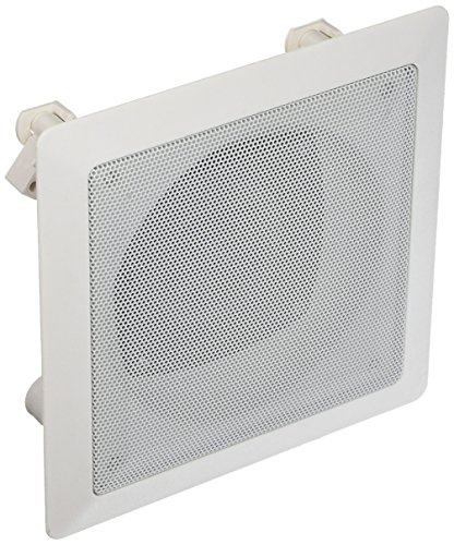 Acoustic Audio CS-i42S In Ceiling Square 2-Way Speaker (White) by Acoustic Audio by Goldwood