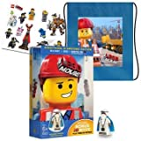 The Lego Movie 3D (3D Blu-ray + Blu-ray + DVD + UltraViolet Combo Pack + Exclusive Minifigure + Exclusive Content) Exclusive Collector's Edition with Cinch Bag and Sticker Sheet