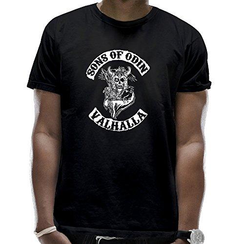 892d7f658 Men's Sons Of Odin Vikings Inspired Funny Cotton Black T-Shirt