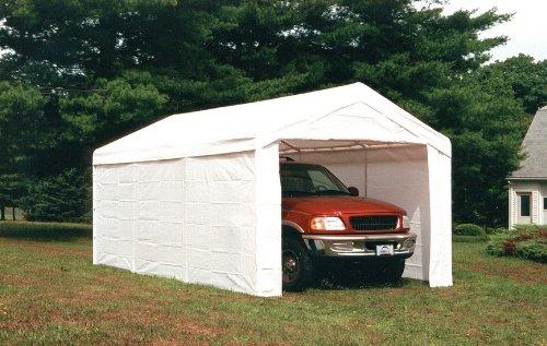 (ShelterLogic 10 x 20 Super Max Commercial Grade 8 Leg Canopy Shelter with Enclosure Kit - 23572)