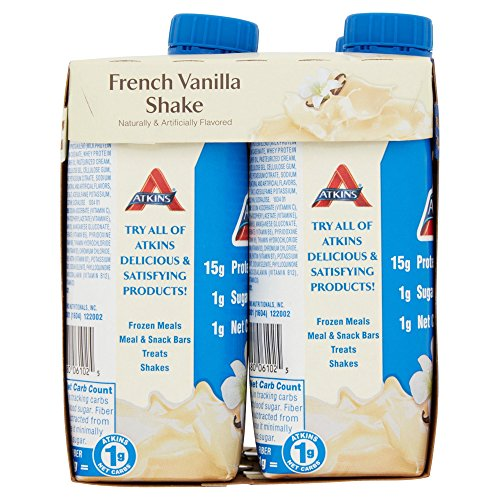 Atkins Ready To Drink Shake, French Vanilla, 11 Ounce (Pack of 48)