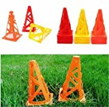 12 pcs 9' inch Soccer Football Trainning Cones Fitness Agility Field / Football Cones Equipment Skills Training Youth Kids Drills Aid Sports Coaching Soccer Cones Fitness Agility Field Bright Distance Boot Camp Durable Weather Sunny Rainy Common Markers Warning Sign Outdoor Yard Playing Colorful