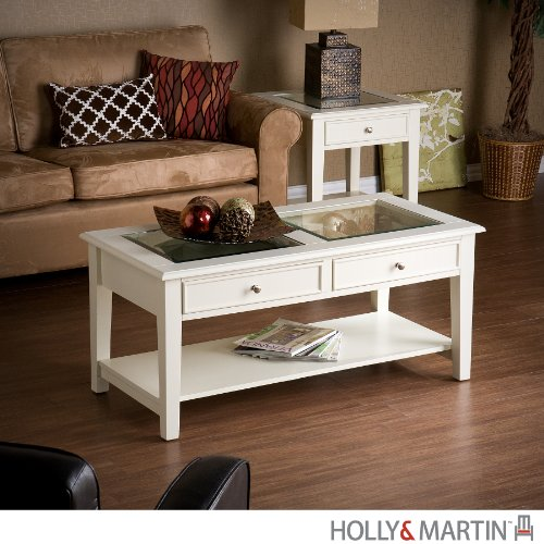 Holly and Martin Somerset Cocktail Table in White