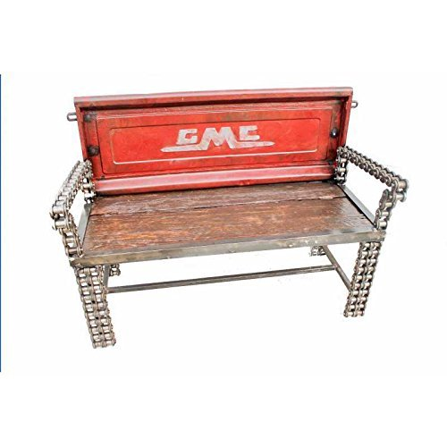 Scrap Metal Art Old Truck GMC Tailgate Bench Man Can Furniture - Old Tailgate