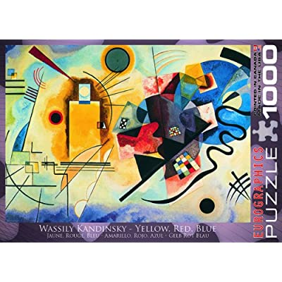 EuroGraphics Gelb Rot Blau by Kandinsky 1000 Piece Puzzle: Toys & Games