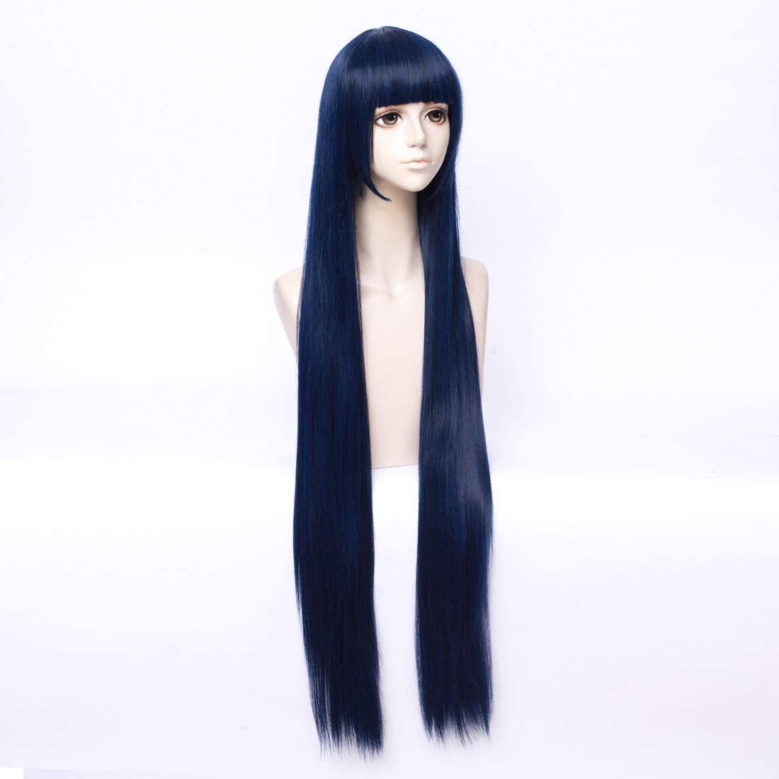 COSPLAZA Cosplay Costume Wigs Perruque Naruto Shippuden Hinata Hyuga longueue beau bleue Party Cheveux