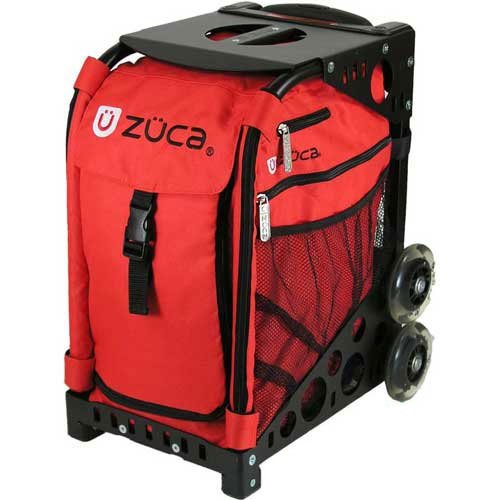 Zuca Sport Mobile Wheeled Luggage Complete Set - Chili Red With Black Frame + Bonus Travel Groove Universal Ipod & MP3 Accessory Outfit - Zuca AZUCSIBCK1 by ZUCA