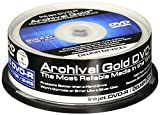 Delkin DDVD-R-I/25 SPIN 8X 100 Year Life Span Archival Gold Inkjet DVD-R (25 Pack Spindle)