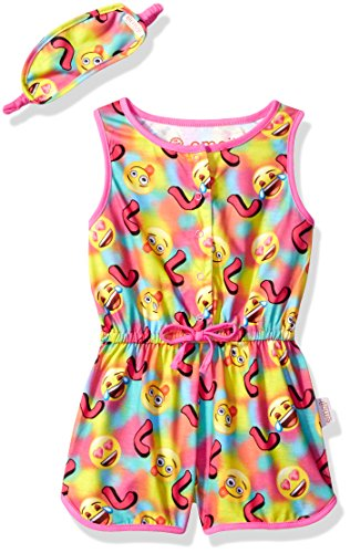 Emoji Girls PJ Set - 2 piece With Sleep Mask