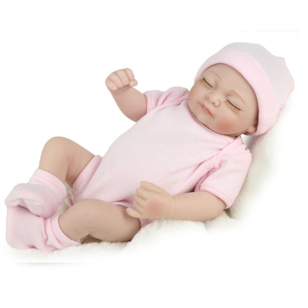 KAYDORA 10 inches Full Body Vinyl Soft Silicone Reborn Baby Girl Doll by KAYDORA