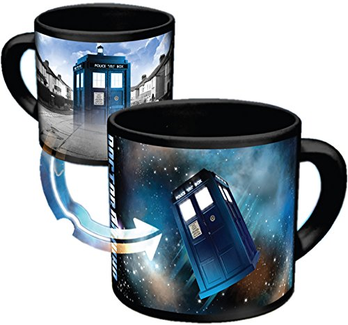 Doctor Who - Disappearing TARDIS Coffee Mug - Add Hot Liquid and Watch The TARDIS Move From London to the Stars - Comes in a Fun Gift Box - by The Unemployed Philosophers Guild Heart London Mug