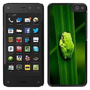 Caucho caso de Shell duro de la cubierta de accesorios de protección BY RAYDREAMMM - Amazon Fire Phone - Bebé Rana Hoja Naturaleza Bosque Tropical