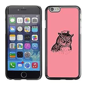 Be Good Phone Accessory // Dura Cáscara cubierta Protectora Caso Carcasa Funda de Protección para Apple Iphone 6 Plus 5.5 // Captain Owl