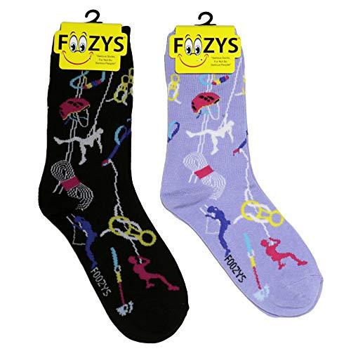 Foozys Women's Crew Socks   Rock climbing Sports Novelty Socks   2 Pair ()