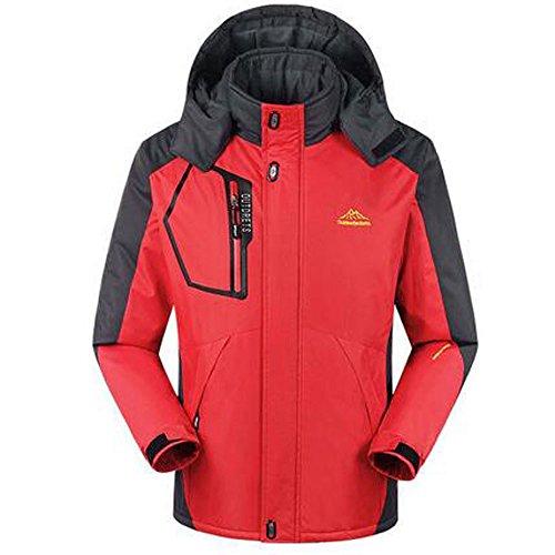 Mens Winter Raincoat Red Outdoor Waterproof Jacket Sport Ski Camping Sportswear Men Design Hiking Softshell Jackets Hooded 4Uw4rxq