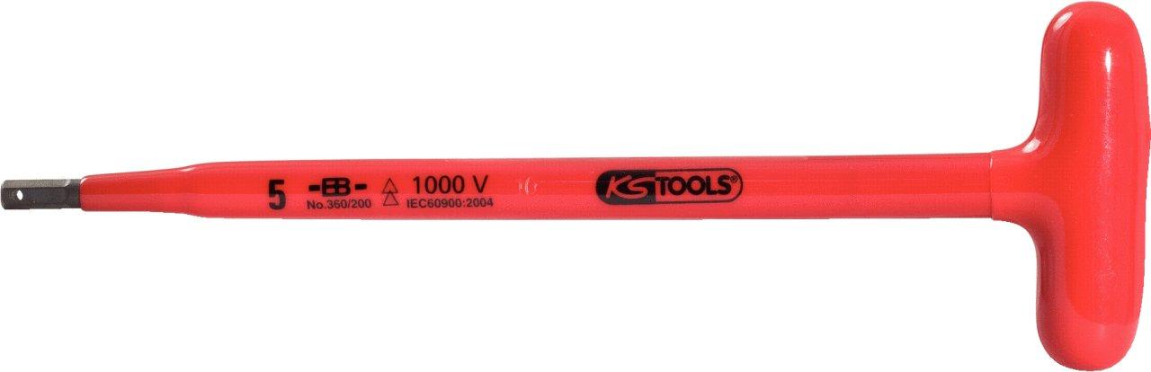 KS Tools 117.1672 Cl/é m/âle 6 pans poign/ée en T isol/ée 3x120 mm