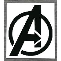 Marvel Avengers Logo - Zwarte Vinyl Sticker Decal voor auto of thuis - HSS158