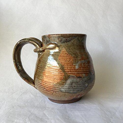 Large Coffee Mug, Handmade Ceramic Coffee Mug, Pottery Mug GLDJUL17M1 15 OZ