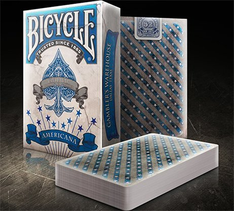 Bicycle Americana Blue Playing Cards Deck 1864 Poker Card Deck