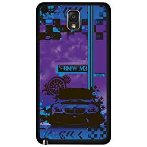 Purple and Blue BMW Car Hard Snap on Phone Case (Note 3 III)