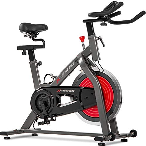 Merax Indoor Cycling Exercise Bike Cycle Trainer Adjustable Stationary Bike Orange