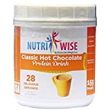 NutriWise – High Protein Diet Drink | Classic Hot Chocolate | Low Calorie, Low Fat, (28 Serv) Review