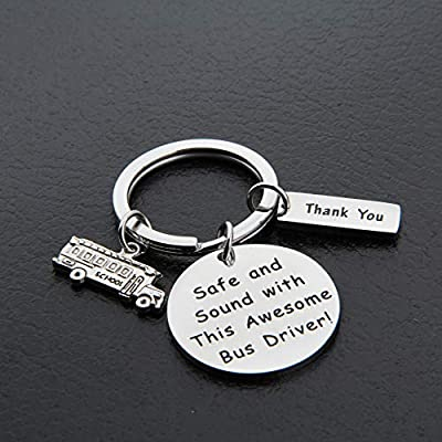 MAOFAED Bus Driver Gift Bus Driver Appreciation Gift Bus Driver Keychain Bus Driver Thank You Gift