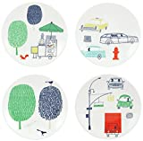 kate spade new york Hopscotch Drive About Town 4piece Tidbit Plate Set