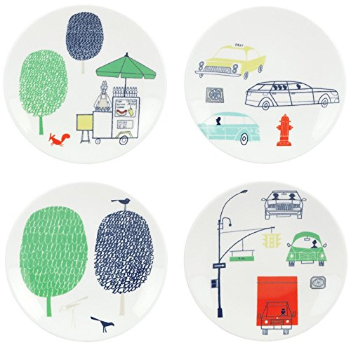 Tidbit Set Plate (kate spade new york Hopscotch Drive About Town 4piece Tidbit Plate Set)