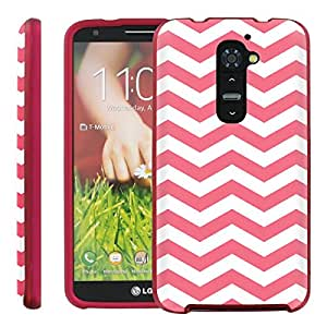 [ManiaGear] Design Graphic Image Shell Cover Hard Case (Chevron Pink White) for LG G2 / D800 / D801 / LS980