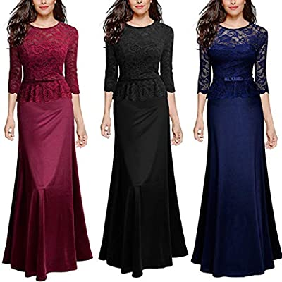 Dresses for Womens,DaySeventh Women's Vintage Lace Formal Wedding Cocktail Evening Party Ladies Long Dress