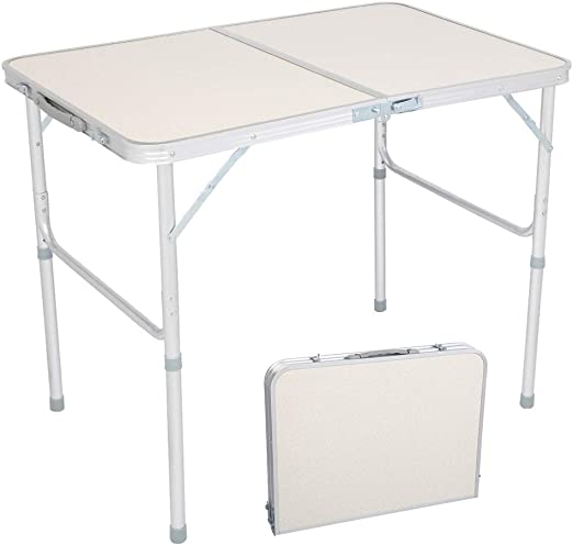 Foldable Computer Desk Small Folding Table Stand Protable Garden Camping Picnic