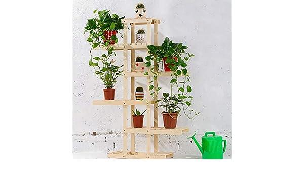 chishizhenxiang Soporte de Flores de Madera de 6 Pisos para ...